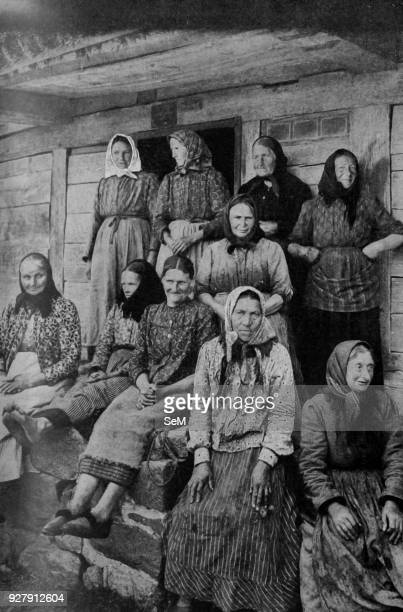 Germany Toilworn women land workers of East Prussia Germania 1920