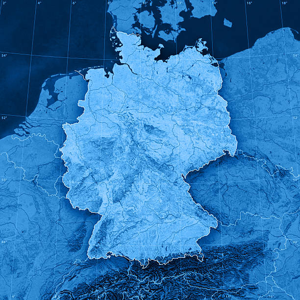 germany topographic map - germany stock pictures, royalty-free photos & images