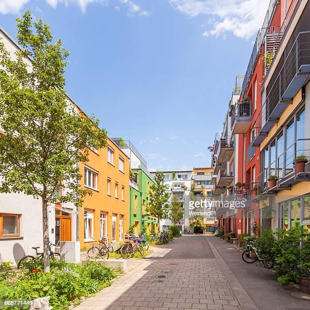 Germany, Tuebingen, ecological multi-family houses at French quarter
