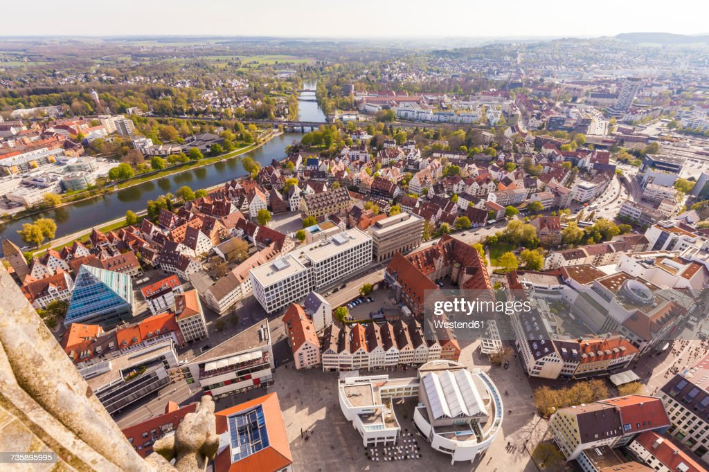 Germany, Ulm, cityscape seen from Ulmer Minster : Stock Photo
