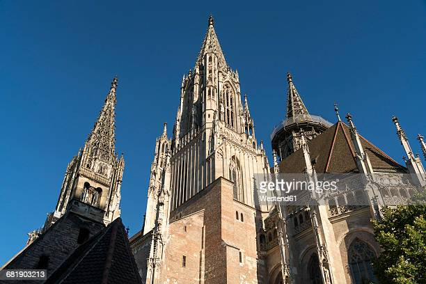 germany, ulm, view to ulm minster from below - ulm stock pictures, royalty-free photos & images