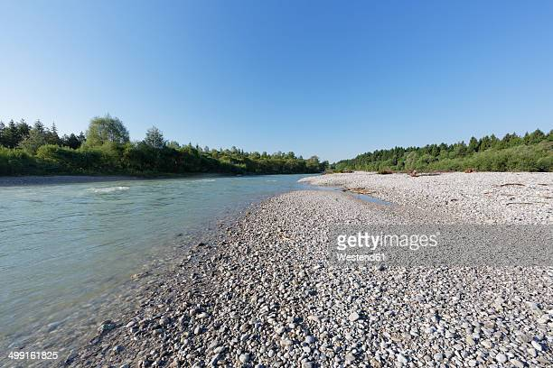 germany, upper bavaria, isarauen, geretsried, gravel bank at isar - kiesel stock-fotos und bilder