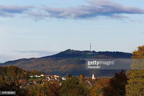 germany, upper bavaria, oberhausen with hoher peissenberg - oberhausen stock-fotos und bilder