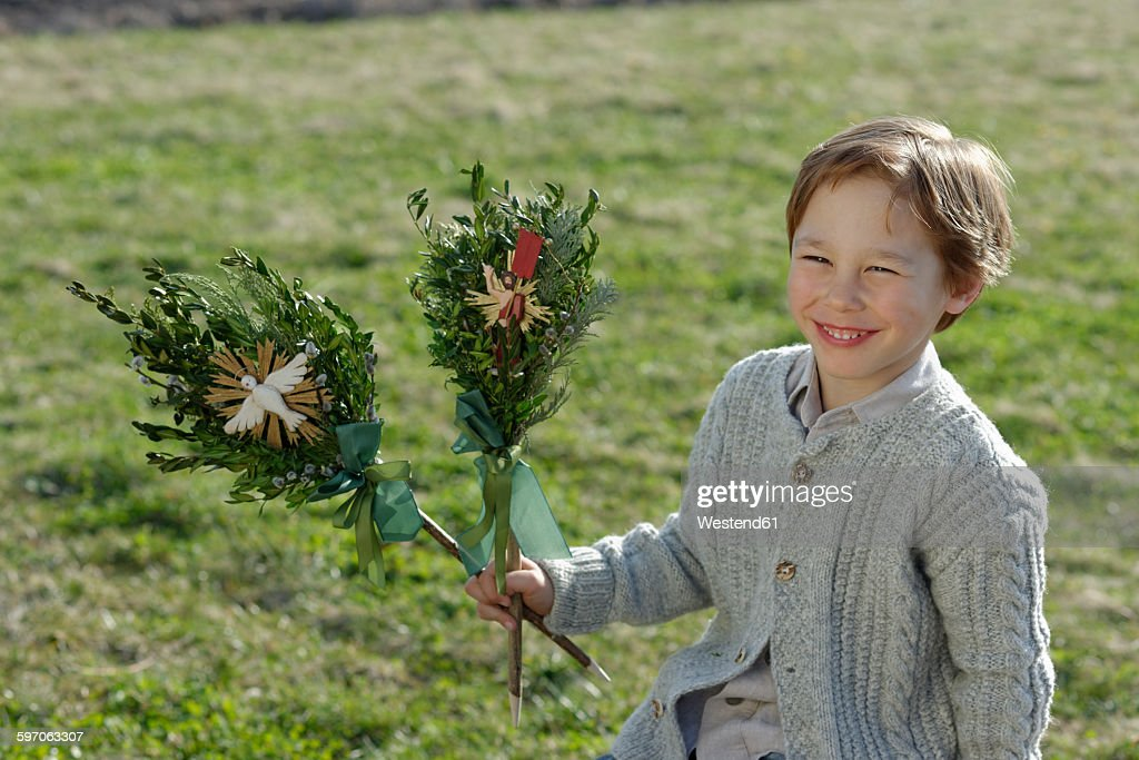 Germany Upper Bavaria Portrait Of Smiling Little Boy With