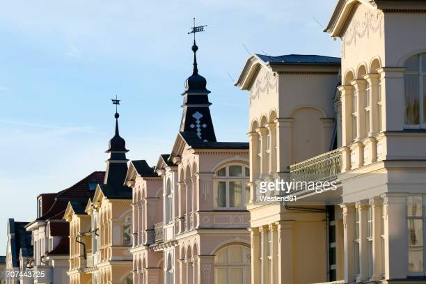 Germany, Usedom, Bansin, row of houses at sunlight