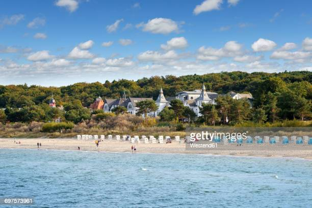 Germany, Usedom, Zinnowitz, view to the beach with Baltic Sea in the foreground