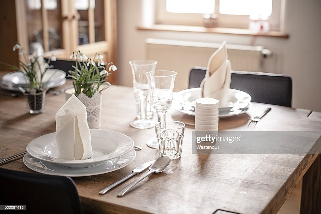 Germany, Vaihingen, Laid table : ストックフォト