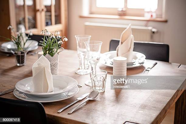 Germany, Vaihingen, Laid table