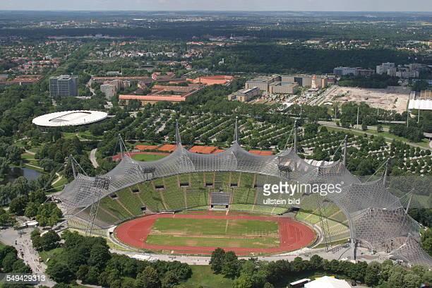 View at Munics Olympia Stadium and the surroundings