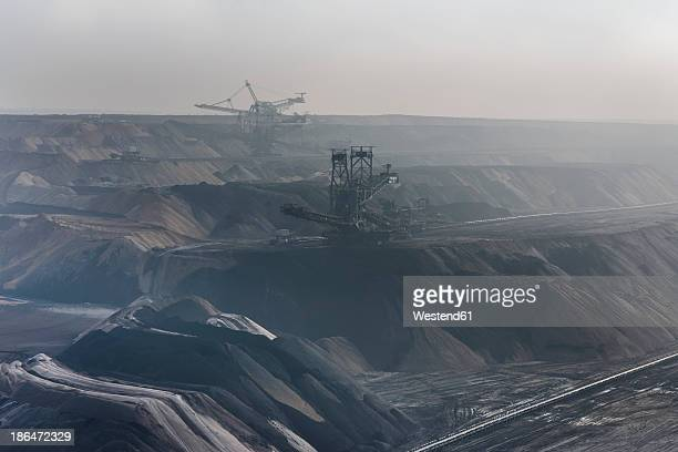 Germany, View of brown charcoal mining at Garzweiler