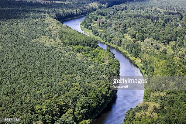 Germany, View of forest and river