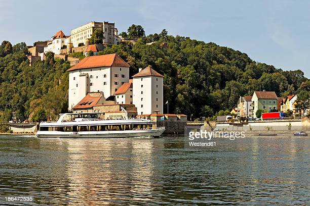 Germany, View of Fortress Oberhaus and Danube River