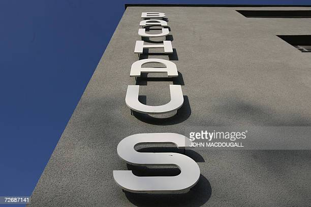 View of one of the wings of the Bauhaus building bearing the name of the building in Dessau 30 November 2006 The building which housed the Bauhaus...