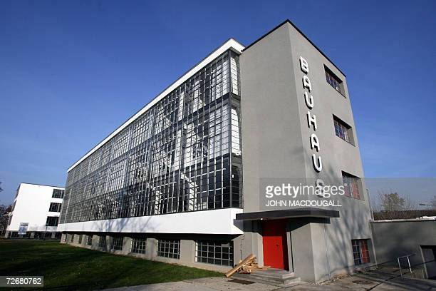 View of one of the wings of the Bauhaus building in Dessau 30 November 2006 The building which housed the Bauhaus design school from 1926 to 1932...