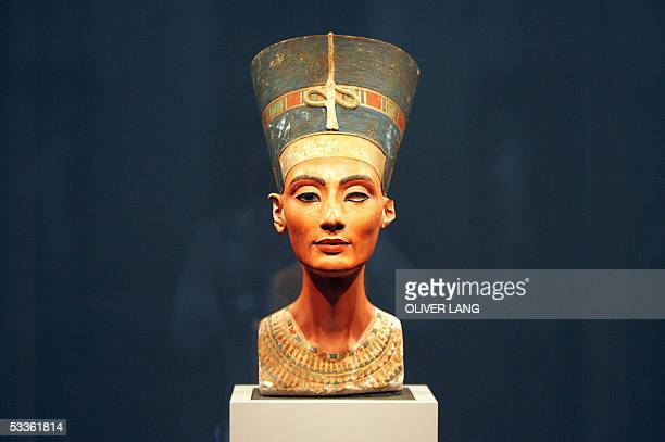 View of the bust of one of history's great beauties Queen Nefertiti of Egypt after it returned to Berlin's Museum Island for the first time since...
