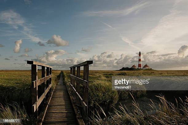 Germany, View of Westerheversand Lighthouse