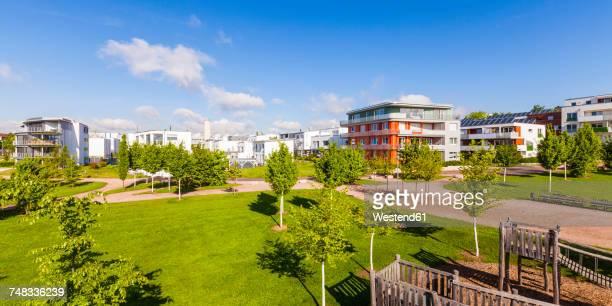 Germany, Waiblingen, solar village Roetepark