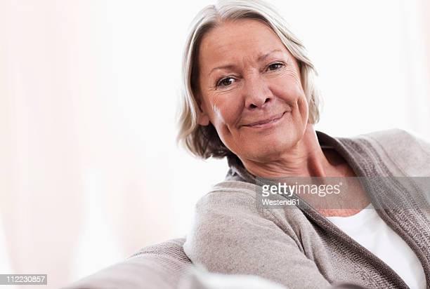 Germany, Wakendorf, Portrait of senior woman, close up
