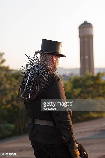 germany, walking chimney sweep - schornsteinfeger stock-fotos und bilder