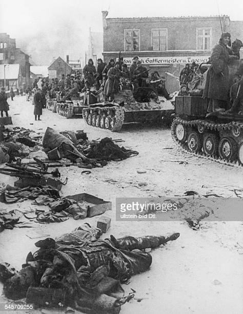 2 WW Germany war theater eastern front 1945 Soviet tanks invading Muehlhausen End of january 1945