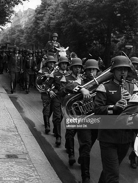Germany Wehrmacht Military band brass band Photographer Max Ehlert undatedVintage property of ullstein bild
