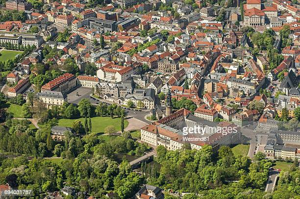 Germany, Weimar, aerial view of the old town