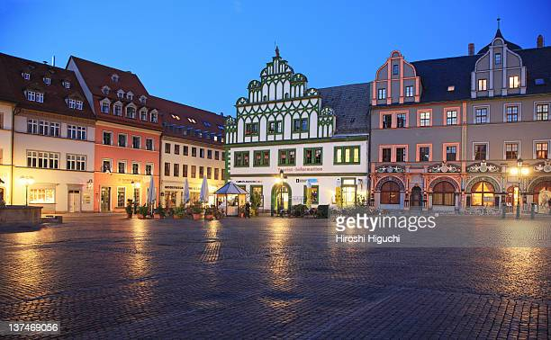 Germany, Weimar at night