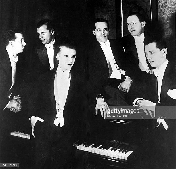 Germany Weimar Republic Cultural life Members of the Comedian Harmonists Harry Frommermann Erwin Bootz Roman Cycowski Aspurach Leschnikoff Erich...