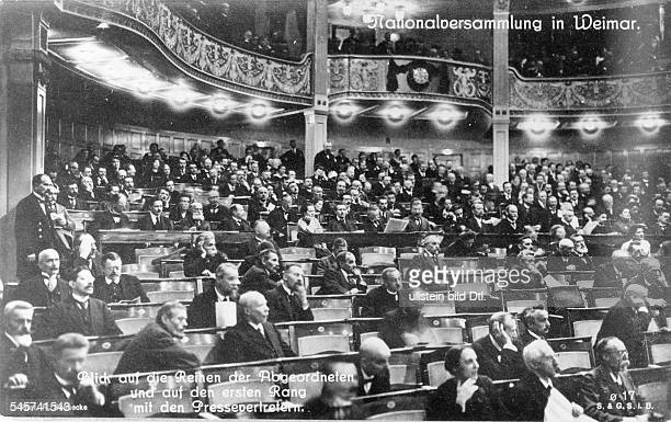 Germany Weimar Republic The National Theater in Weimar seat of the National Assembly February 1919