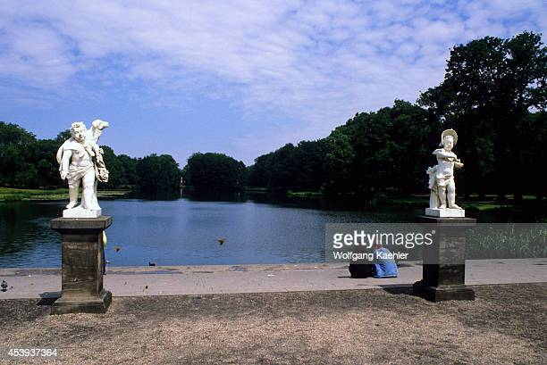 Germany, West Berlin, Charlottenburg Castle, Park With Statues.