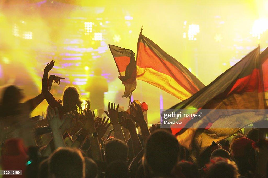 Deutschland gewinnt: FIFA Fußball-Weltmeisterschaft 2014 ™ Champion Party, Berlin, Deutschland : Stock-Foto