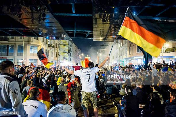 Germany wins the soccer world cup and celebrates