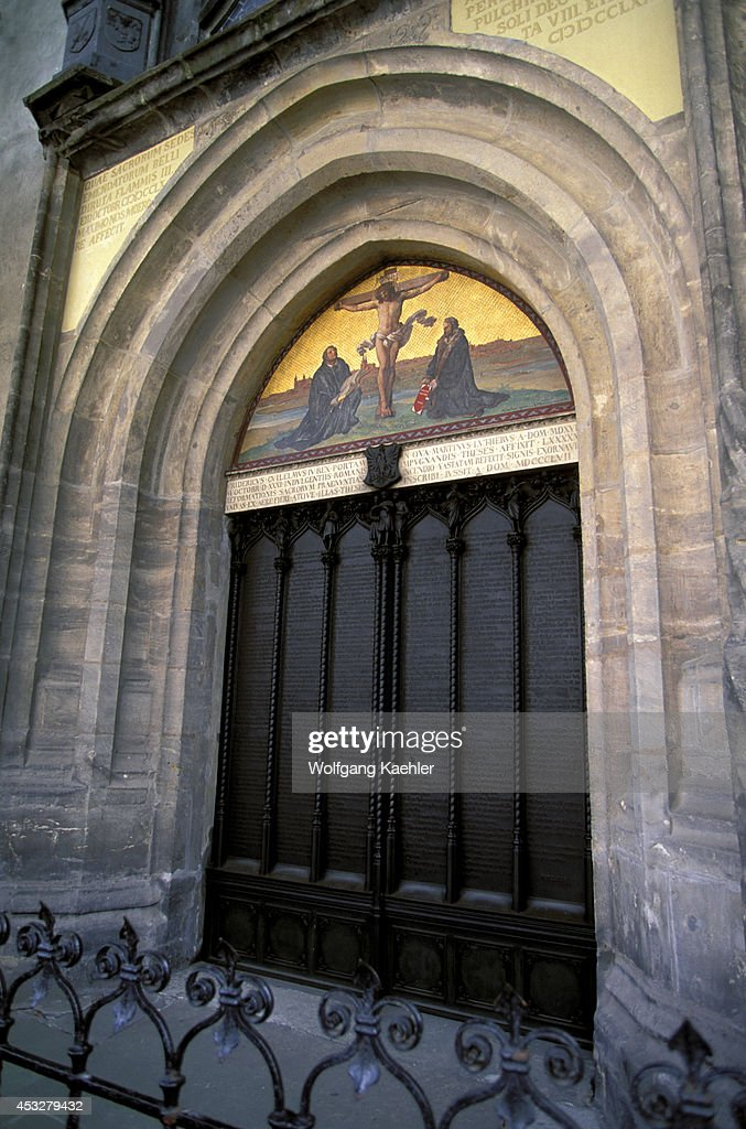 Germany Wittenberg Castle Church Door Where Martin Luther Nailed His Thesis. & Germany Wittenberg Castle Church Door Where Martin Luther ...