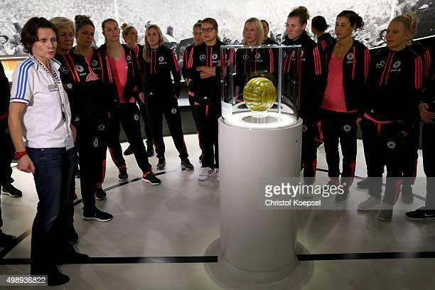 Germany Women's Team visit the Football Museum on November 27 2015 in Dortmund Germany