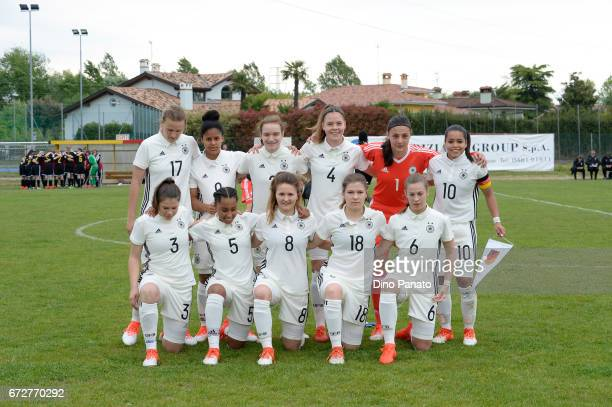 Germany women's U16 and players poses before the 2nd Female Tournament 'Delle Nazioni' match between Germany U16 and Belgium at Stadio Comunale on...