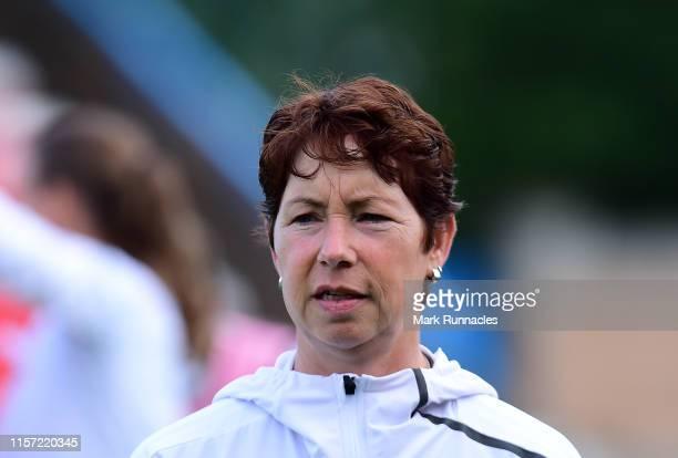 Germany Women's U19 head coach Maren Meinert during the UEFA Women's Under19 European Championship match between Spain Women's U19 and Germany...