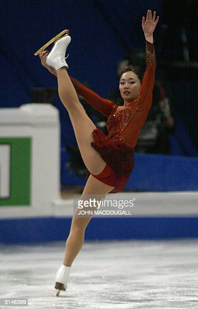 World junior champion Miki Ando of Japan performs in the Ladies Free Skating competition at the 2004 World Figure Skating Championships in Dortmund...