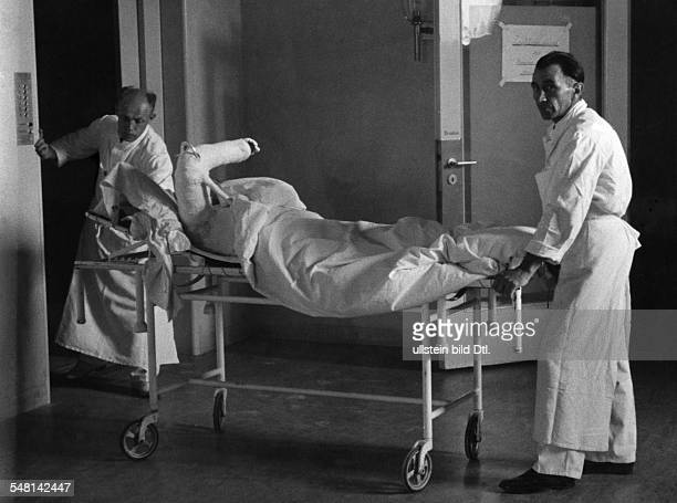 Germany Wounded soldier of WW II in a military hospital 1940 Photographer Regine Relang Vintage property of ullstein bild