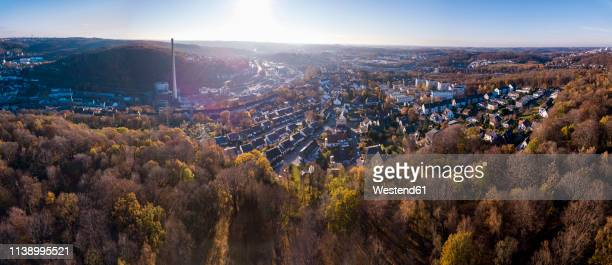 Germany, Wuppertal, Aerial view of Elberfeld in autumn