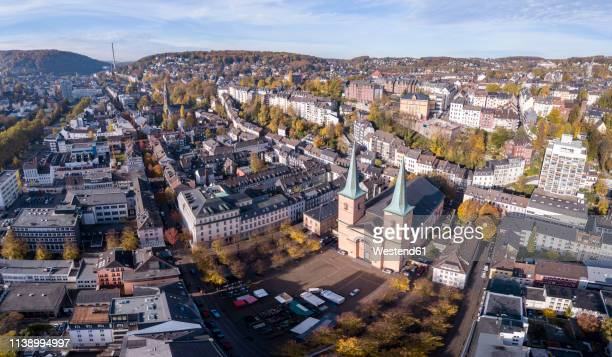 Germany, Wuppertal, Elberfeld, Aerial view of Laurentius Square