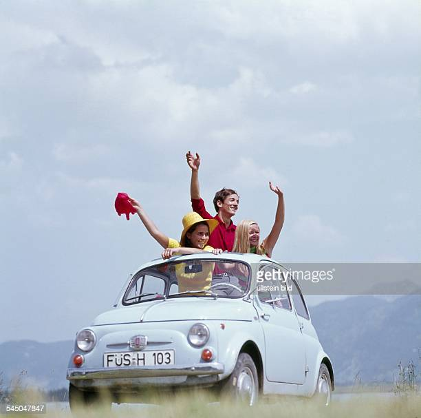 young people with a Fiat 500