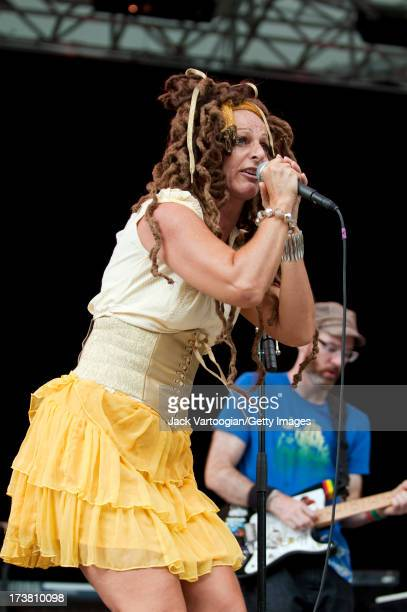 Germanyborn Englandraised singer Ari Up performs with the Viennese Dub band Dubblestandart backing Lee Scratch Perry at Central Park SummerStage New...