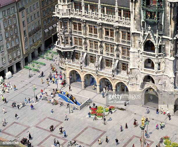 germany-munich - marienplatz stock pictures, royalty-free photos & images