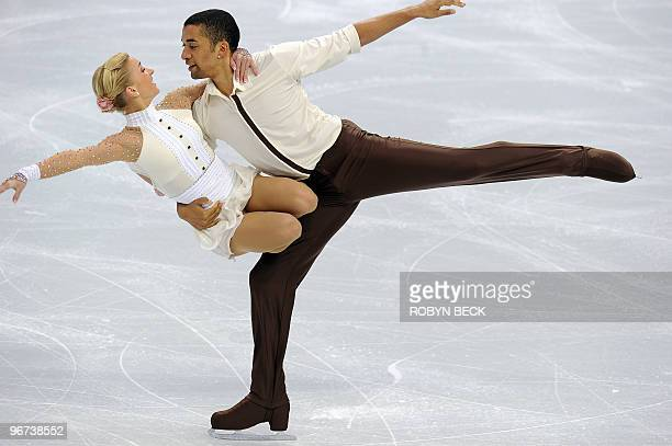 Germany's Aliona Savchenko and Robin Szolkowy perform during the figure skating pairs free program at the 2010 Winter Olympics at the Pacific...