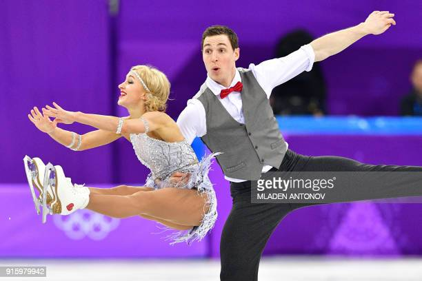 Germany's Aljona Savchenko and Germany's Bruno Massot compete in the figure skating team event pair skating short program during the Pyeongchang 2018...