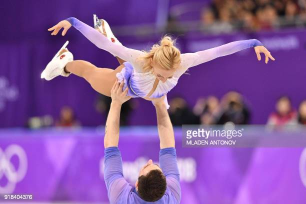 Germany's Aljona Savchenko and Germany's Bruno Massot compete in the pair skating free skating of the figure skating event during the Pyeongchang...