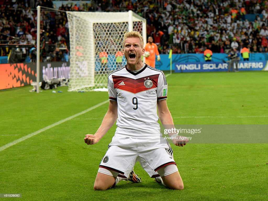 Germany S Andre Schurrle Reacts After Scoring A Goal During The 2014