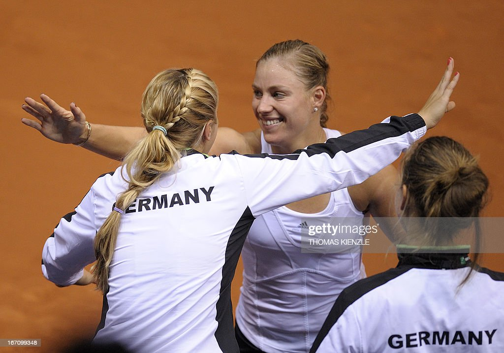 TENNIS-FEDCUP-GER-SRB-KERBER : News Photo