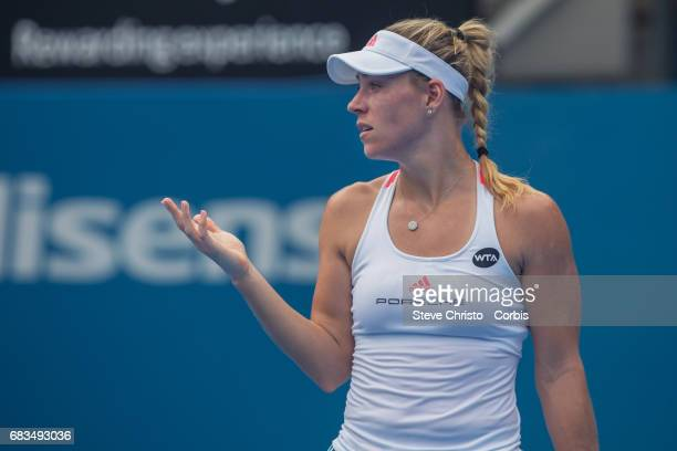 Germany's Angelique Kerber in action during the Women's singles match between Germany's Angelique Kerber and Russia's Daria Kasatkina on centre court...