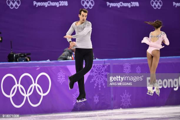 Germany's Annika Hocke and Germany's Ruben Blommaert compete in the pair skating free skating of the figure skating event during the Pyeongchang 2018...